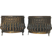 Pair of French Copper Repousse Jardiniere / Planters