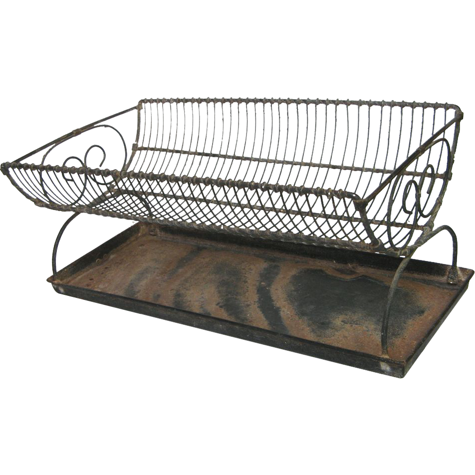 French Vintage Wire Dish Rack Wire Ware Dish Drain Sold