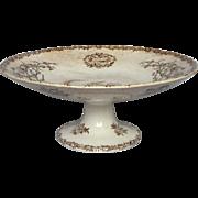 French Porcelain Raised Platter - Brown Transferware -Choisy le Roi