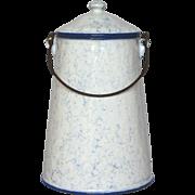 Near Mint Snow on the Mountain Enamel Graniteware Milk Pot