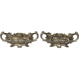 Pair of Petit French Jardiniere Centerpieces