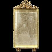 1800's Napoleon III - French Bronze Photo Frame