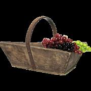French Wooden Garden Trug - Harvest Basket