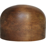 Vintage French Wooden Hat Form - Milliners Block