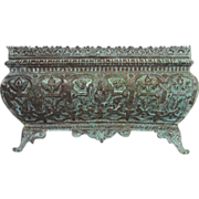 Sumptuous French Copper Repousse Cache-Pot