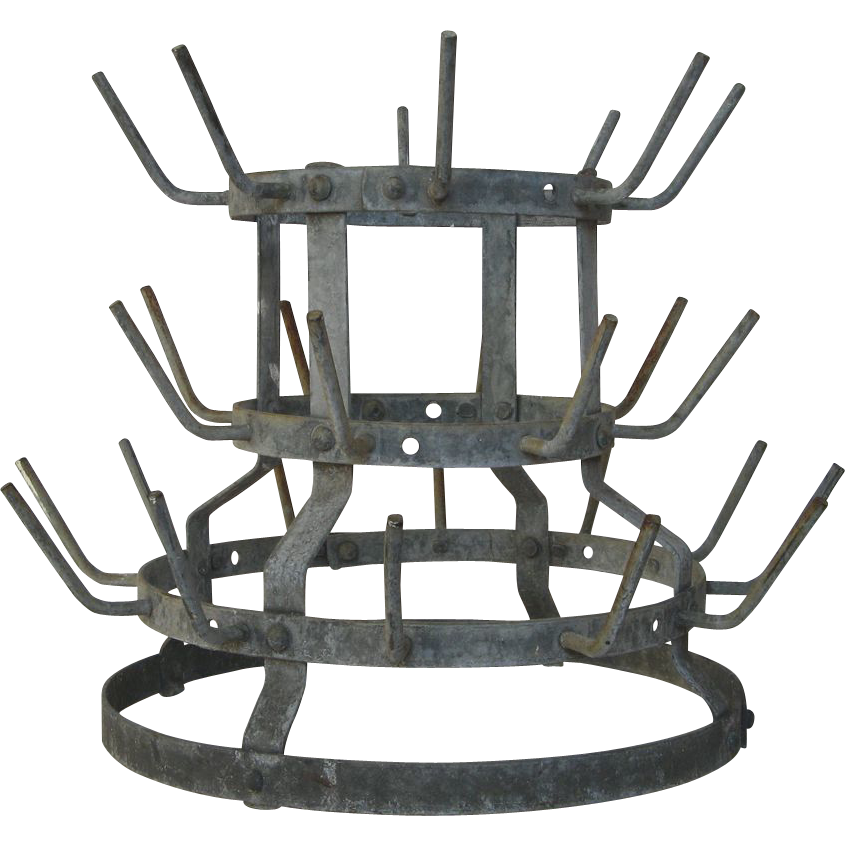 Small french wine bottle drying rack herisson sold on for Wine bottle christmas tree frame for sale