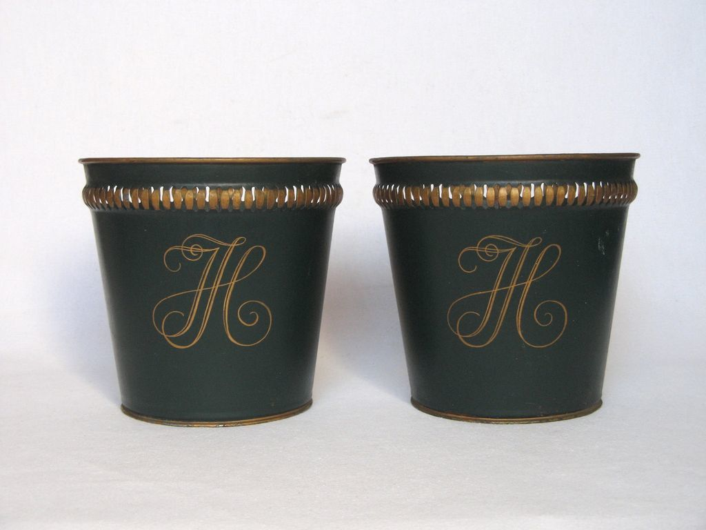early 1900s french metal cache pot from yesterdaysfrance. Black Bedroom Furniture Sets. Home Design Ideas