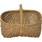 Petite French Woven Harvest Basket
