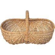 Small French Woven Gathering Basket