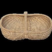 Petite French Woven Buttocks Gathering Basket