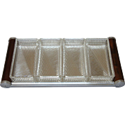 Art Deco Mirrored Tray with Glass Containers