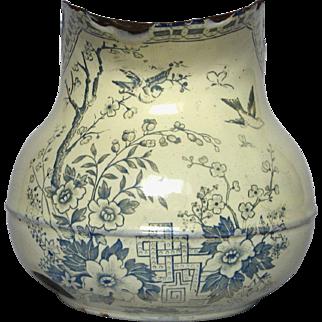 1800s French Graniteware Enamel Pitcher