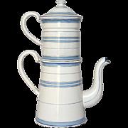 NEAR- MINT Enamel Graniteware Coffee Pot Biggin -early 1900s
