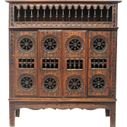 Early 1900s French Breton Furniture Miniature - Closed Bed / Armoire