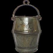 Antique French Industrial Steel Bucket
