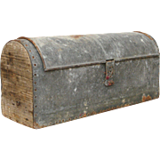Vintage French Zinc Tool Box - Industrial Chic