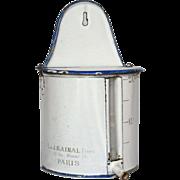 RARE French Enamel Lidded Graniteware Irrigator