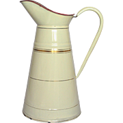 French Enameled Graniteware Body Pitcher