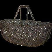 Vintage French Wire Gathering -Gardening Basket / Harvest Trug