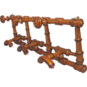 """""""Faux Bamboo"""" French Coat / Hat Hook Rack"""