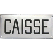 French Enamel Sign - Plaque for Cashier - Till - Payment