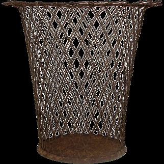 Mid-Century Wire Waste Paper Bin - Basket - Pail - Planter