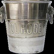 Vintage French Champagne Bucket - Pol Roger