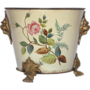 1800s French Graniteware Enamel Cache-Pot / Planter