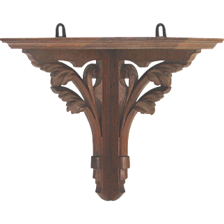 Wall Hanging Wooden French Corner Shelf - Relic Stand
