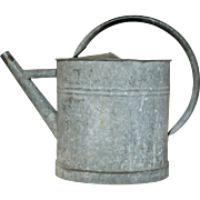Small Sized Galvanized Zinc Watering Pail - Watering Can from France