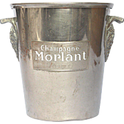 Vintage French Champagne Bucket - Ice Pail from the MORLANT Champagne House