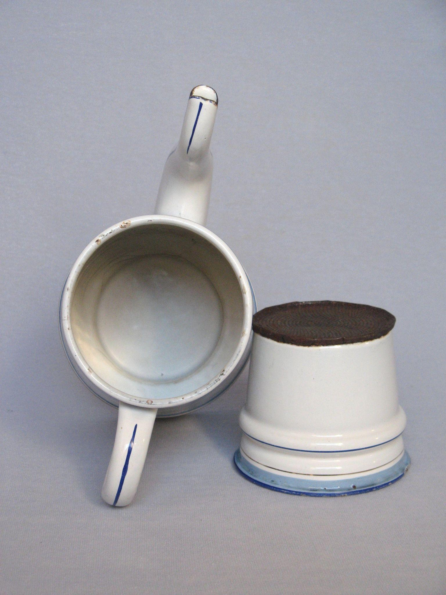 Vintage Enamel Graniteware Drip-Coffee Pot Biggin SOLD on Ruby Lane