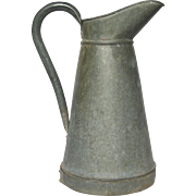 Aged Zinc French XL Pitcher