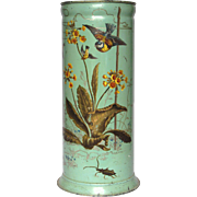 Spectacular Hand-Painted TOLE - WARE Umbrella Stand - late 1800's-early1900s