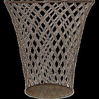 Mid-Century Wire Waste Basket / Paper Bin/ Garbage Pail / Umbrella Stand