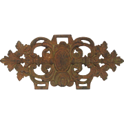 French Cast Iron Decorative Medallion early 1900s
