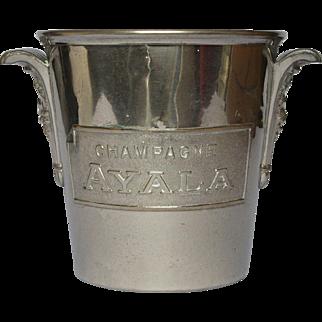 Vintage French Champagne Bucket / Wine Bucket / AYALA Champagne