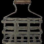 Vintage French Wine Bottle Carrier / Caddy / Wine Holder