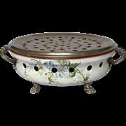 ON SALE - French Enamel Hot Plate / Chauferette / Food Warmer