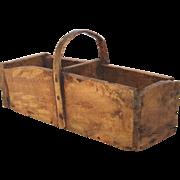 French Wooden Grafting Trug / Gardening - Cuttings Basket