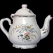 Floral Enameled Graniteware Coffee / Tea Pot