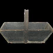 Vintage French Wooden Harvest Trug - Gardening Basket