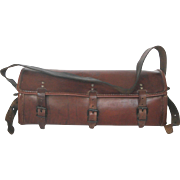 Vintage French Leather Tool Bag - Electrician's Tool Carrier