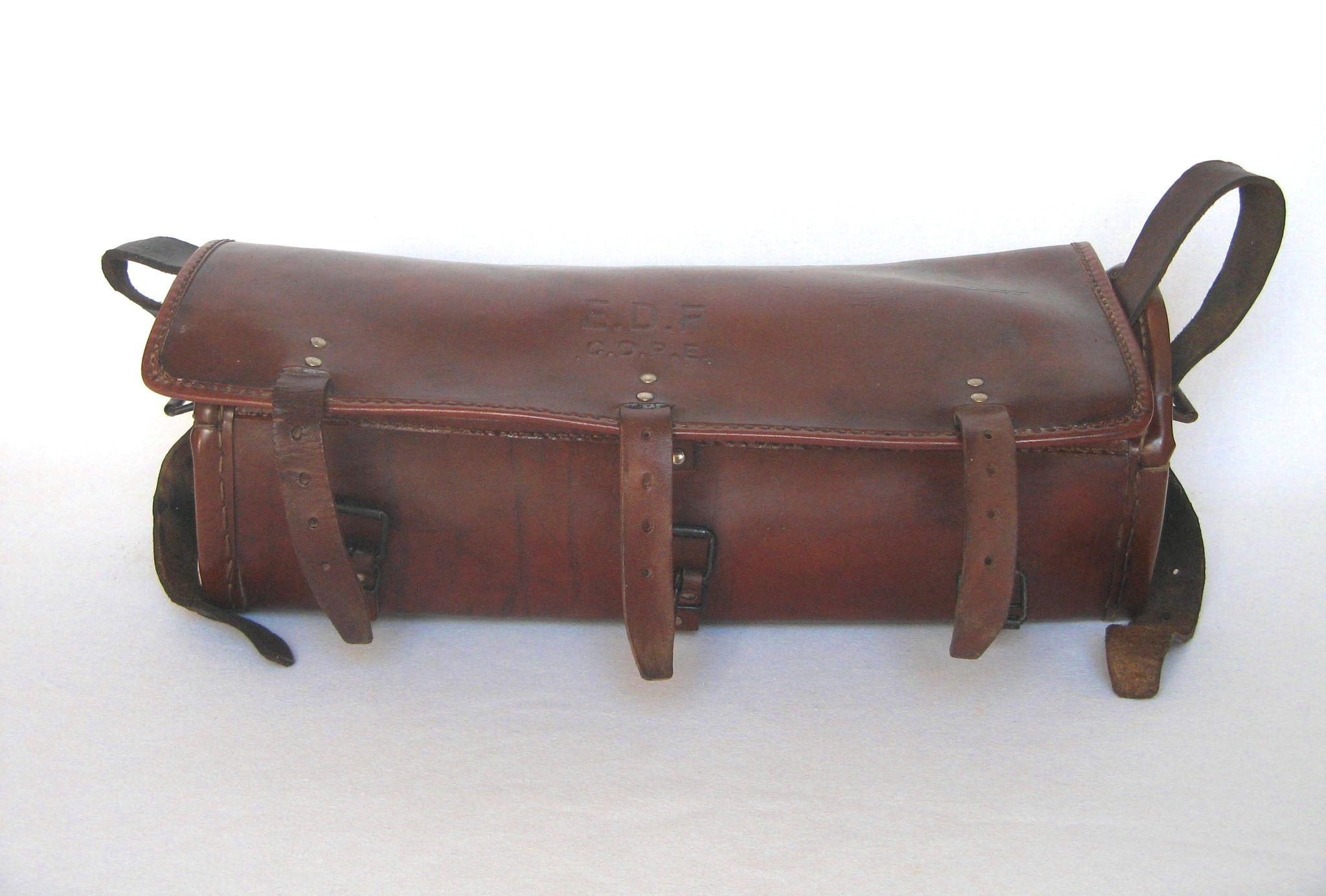 Vintage French Leather Tool Bag Electrician S Tool
