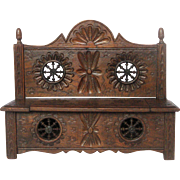 French Brittany Toy Furniture Replica - Lift top Bench