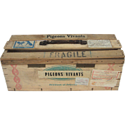 French Pigeon Shipping Crate - 1966 -Pigeon Fanciers Box