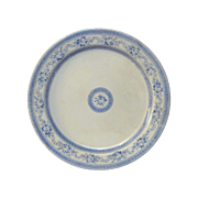 French Blue & White Transfer Ironstone Serving Plate