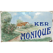 French Enameled Custom Made House Plaque