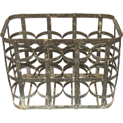 Glass Bottle Delivery / Transport Metal Crate from France - 8 Bottle Capacity