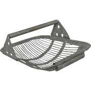 Galvanized Metal Shellfish / Oyster Trug / Basket from France